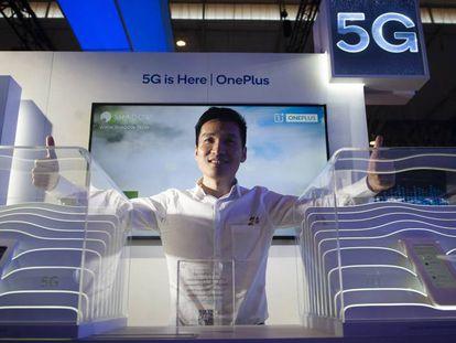 Pete Lau, el consejero delegado de OnePlus, durante el Mobile World Congress.