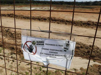 Zona en obras donde está previsto el emplazamiento de la mina de uranio.