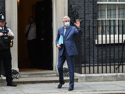 El jefe del equipo negociador europeo, Michel Barnier, el pasado día 7 a su llegada al 10 de Downing Street.