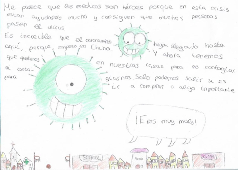 Lola tiene 9 años y así vive ella la cuarentena por el coronavirus.
