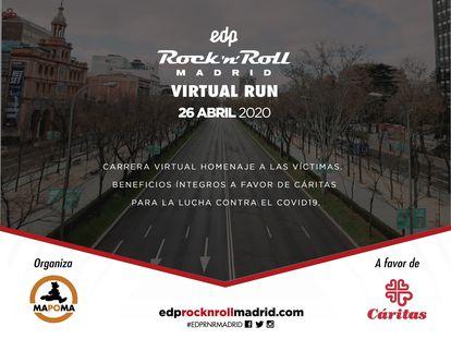 Cartel anunciador del maratón virtual organizado por Mapoma  MAPOMA 16/04/2020