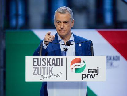 El candidato a lehendakari Iñigo Urkullu (PNV).