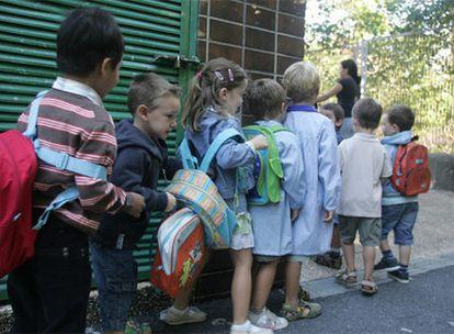 Inicio del curso escolar en un colegio público de Getxo (Bilbao).