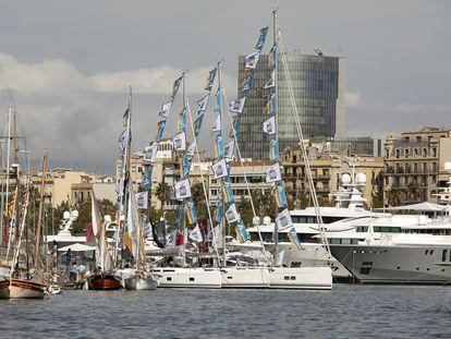 Barcos en el Salón Náutico celebrado en 2019.
