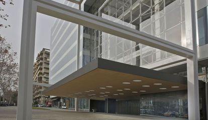 Fachada del nou edifici de la Diagonal.