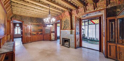 Uno de los interiores de Casa Vicens.