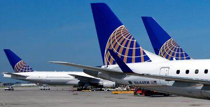 Aviones de la compañía United Airlines