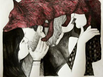 'Zorrísimos en rojo', de Rosana Antolí. Galería Aranapoveda.