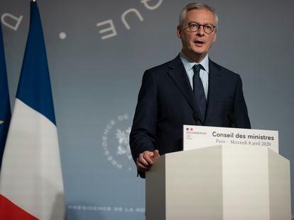 El ministro francés de Economía, Bruno Le Maire, el miércoles durante una comparencia en París.