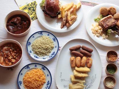 Platos ecuatorianos del nuevo 'delivery' Ayawaskha