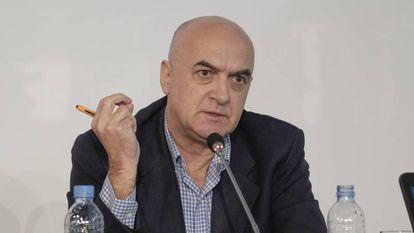 El periodista Yavuz Baydar este lunes en Madrid.