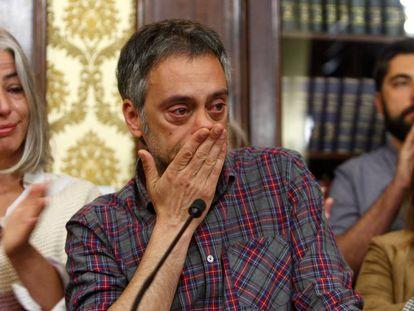 Xulio Ferreiro, durante su comparecencia en rueda de prensa, este lunes.