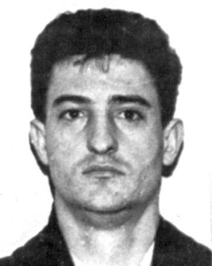 Foto policial de Chano Rodríguez cuando era miembro de los GRAPO.
