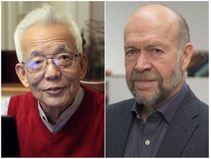 Los premiados con el galardón Fronteras del Conocimiento en Cambio Climático, los climatólogos Syukuro Manabe (izda) y James Hansen (dcha).