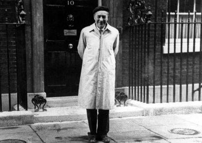 Josep Pla, en Londres.