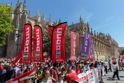 Movilización del Primero de Mayo en Sevilla