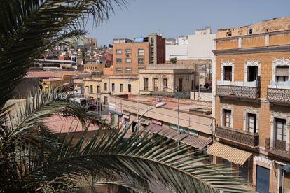 Vista desde una terraza de un barrio de mayoría musulmana de Melilla.