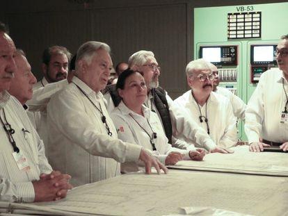 La Secretaria de Energía, Rocío Nahle García y Manuel Bartlett Díaz, Director General de la Comisión Federal de Electricidad (CFE), realizaron una visita técnica a la Central Nucleoeléctrica Laguna Verde, en el estado de Veracruz el 21 de Octubre de 2019.