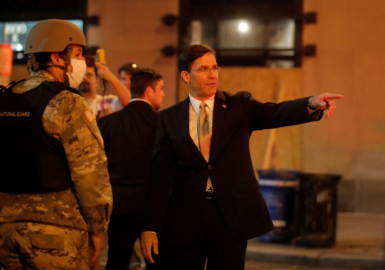 El jefe del Pentágono Mark Esper en Washington.