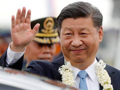 El presidente de China Xi Jinping durante una visita en Manila.