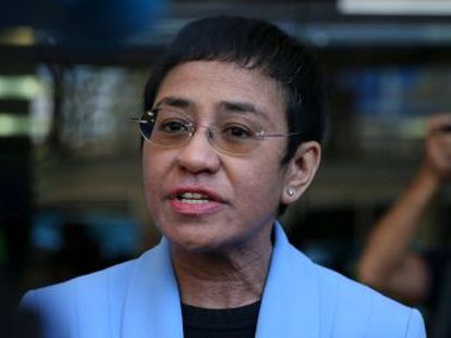 """María Ressa, fundadora del medio independiente Rappler, ha sido acusada de evasión de impuestos que tacha de """"ridículas"""""""