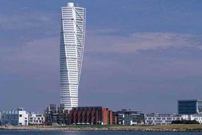El rascacielos Turning Torso, en Malmoe (Suecia).
