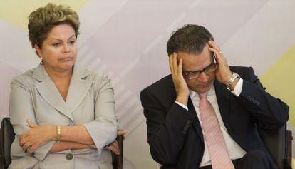 Dilma Rousseff y el presidente de la Cámara, Henrique Alves, en Brasilia.