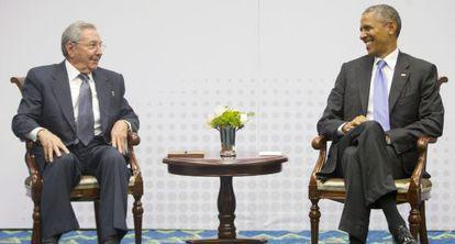 Raul Castro y Barack Obama, en una reunión en abril de este año.