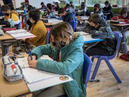Una clase de primero de la ESO en un centro educativo valenciano a finales de diciembre.