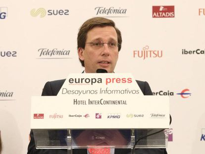 José Luis Martínez-Almeida, portavoz del PP en el Ayuntamiento de Madrid, el lunes. En vídeo, declaraciones de Martínez-Almeida.