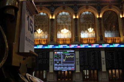 La Bolsa de Madrid, este martes.