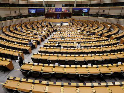 Vista del Parlamento Europeo, en Bruselas.