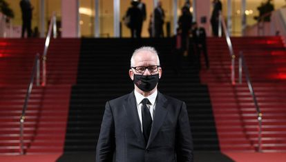 Thierry Frémaux, pictured outside the Cannes festival palace.
