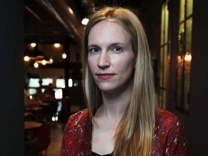 Jessica Powell, exvicepresidenta global de comunicaciones de Google, en una reciente visita a Madrid.
