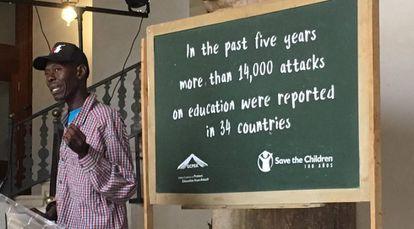 Maidugu Magaji, profesor que ha sufrido un ataue suicida.