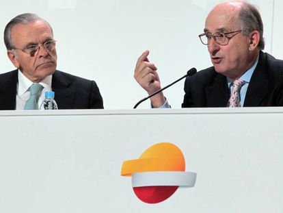 Isidre Fainé, expresidente de Caixabak, y Antoni Brufau, presidente de Repsol.