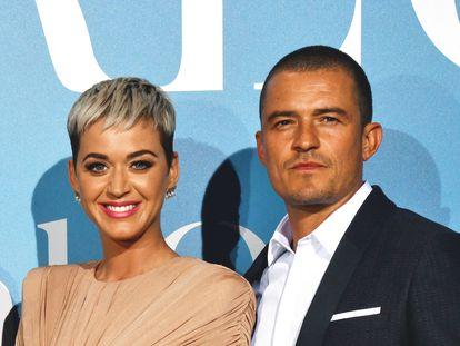Los actores Katy Perry y Orlando Bloom.