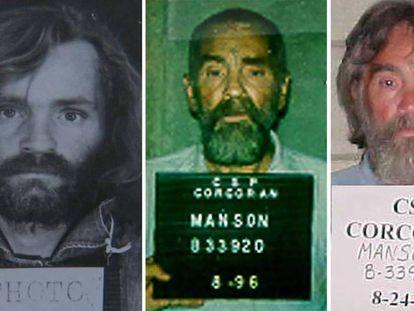 Fichas policiales de Charles Manson.