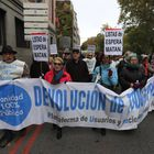 Manifestacion de la Marea Blanca madrilñea frente al ministerio de Sanidad el domingo 17 de noviembre.