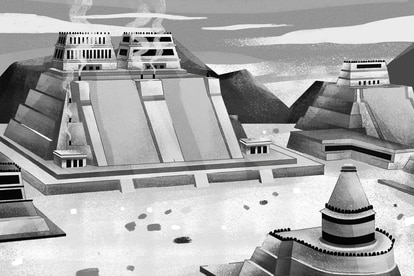 Ilustración del Templo Mayor.