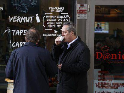 El exconsejero de Interior Joaquim Forn durante una de las salidas de la cárcel para trabajar en Mediapro.