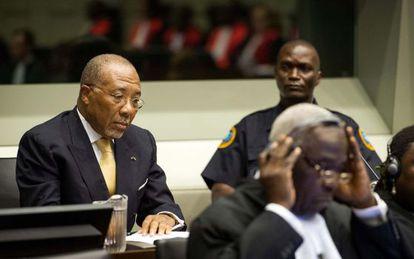 Charles Taylor en la corte del Tribunal Especial de Sierra Leona en La Haya.