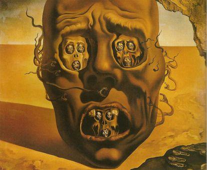 'El rostro de la guerra', pintado por Salvador Dalí en 1940, desde California (Estados Unidos), en plena Segunda Guerra Mundial.