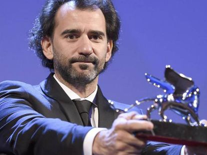 Pablo Trapero, con el León de Plata al Mejor Director en el Festival de Venecia en 2015.