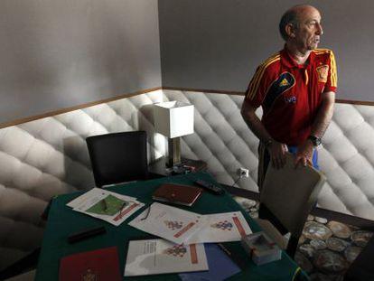 Paco Jimenez, preparador de informes de los rivales de España.