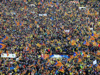 Manifestación celebrada este jueves en Bruselas