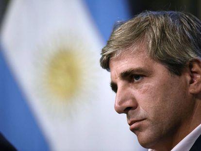 El gobernador saliente del BCRA, Luis Caputo.