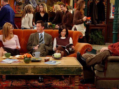 Jennifer Aniston, Matthew Perry, Courteney Cox y Matt LeBlanc, en Friends.