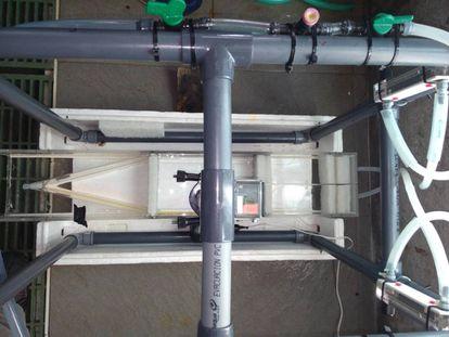 Vista aérea del sistema de selección de flujo.