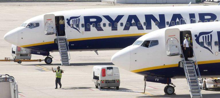 Aviones de Ryanair, en imagen de archivo.